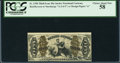 Fractional Currency:Third Issue, Fr. 1350 50¢ Third Issue Justice PCGS Choice About New 58.. ...
