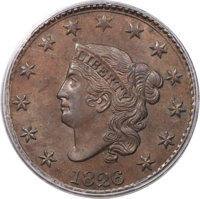 1826 1C N-6, R.2, MS64 Brown PCGS....(PCGS# 36826)