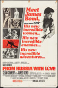 """Movie Posters:James Bond, From Russia with Love (United Artists, 1964). One Sheet (27"""" X 41"""")Style A. James Bond.. ..."""