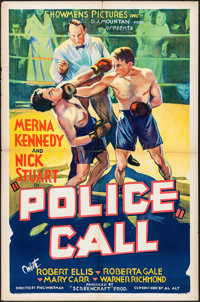 """Police Call (Showmens Pictures, 1933). One Sheet (27"""" X 41""""). Crime"""