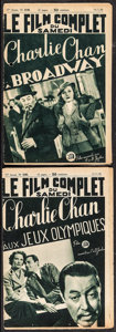 """Movie Posters:Mystery, Full Movie Saturday: Charlie Chan at the Olympics & Other Lot (Paris Publishing, 1938). French Magazines (2) (16 Pages, 7"""" X... (Total: 2 Items)"""