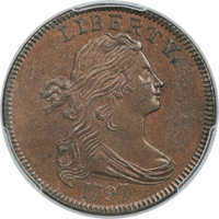 1797 1C Reverse of 1797, Stems, S-123, B-12, R.4, MS64 Brown PCGS....(PCGS# 35909)