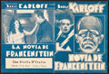 "Movie Posters:Horror, The Bride of Frankenstein (Universal, 1935). Uruguayan Herald (Closed: 4.25"" X 6"", Opened: 6"" X 8.5""). Horror.. ..."