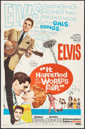 "Movie Posters:Elvis Presley, It Happened at the World's Fair (MGM, 1963). One Sheet (27"" X 41"").Elvis Presley.. ..."