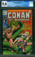 Bronze Age (1970-1979):Adventure, Conan the Barbarian #7 (Marvel, 1971) CGC NM 9.4 OFF-WHITE pages.