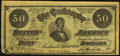 Confederate Notes:1864 Issues, Facsimile Ad Note T66 $50 1864.. ...