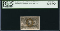 Fr. 1290 25¢ Second Issue PCGS Choice New 63PPQ