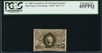 Fr. 1289 25¢ Second Issue PCGS Extremely Fine 45PPQ