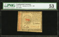 Continental Currency January 14, 1779 $45 PMG About Uncirculated 53