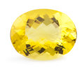 Gems:Faceted, Gemstone: Lemon Quartz - 67.4 Ct.. Brazil. 33.1 x 25.8 x 15.2mm. ...