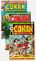 Bronze Age (1970-1979):Adventure, Conan the Barbarian Related Short Box Group (Marvel, 1970s) Condition: Average FN/VF....
