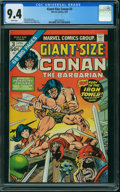 Bronze Age (1970-1979):Miscellaneous, Giant-Size Conan #3 (Marvel, 1975) CGC NM 9.4 White pages.