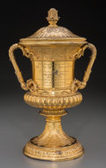 Silver Holloware, American:Loving Cup, The New York Yacht Club King's Cup Gilt Silver Trophy by Tiffany& Co. with Photo Album, New York, New York, circa 1909. Mar...(Total: 2 Items)