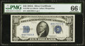 Small Size:Silver Certificates, Fr. 1702 $10 1934A Silver Certificate. PMG Gem Uncirculated 66 EPQ.. ...