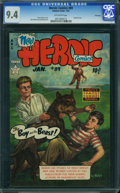 Golden Age (1938-1955):War, Heroic Comics #89 - File Copy (Eastern Color, 1954) CGC NM 9.4 OFF-WHITE pages.