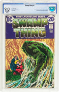 Bronze Age (1970-1979):Horror, Swamp Thing #1 (DC, 1972) CBCS VF/NM 9.0 Off-white to whitepages....