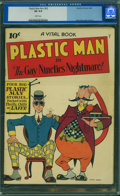 Golden Age (1938-1955):Superhero, Plastic Man #nn (#2) (Quality, 1944) CGC VG 4.0 White pages.