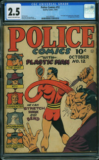 Police Comics #12 (Quality, 1942) CGC GD+ 2.5 CREAM TO OFF-WHITE pages