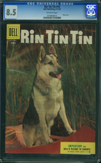 Rin Tin Tin #10 (Dell, 1955) CGC VF+ 8.5 OFF-WHITE pages