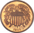 Proof Two Cent Pieces, 1864 2C Large Motto PR66 Red Cameo PCGS....