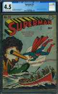Superman #20 (DC, 1943) CGC VG+ 4.5 OFF-WHITE TO WHITE pages