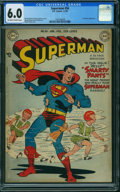 Golden Age (1938-1955):Superhero, Superman #56 (DC, 1949) CGC FN 6.0 OFF-WHITE TO WHITE pages.