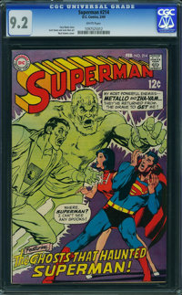 Superman #214 (DC, 1969) CGC NM- 9.2 WHITE pages