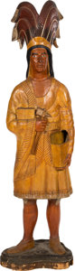 "Memorabilia:Miscellaneous, Cigar Store ""Big John"" Indian Statue (c. 1960s-70s)...."