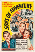 "Movie Posters:Adventure, Sons of Adventure (Republic, 1948). One Sheet (27"" X 41"").Adventure.. ..."