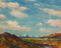 Paintings, Albert Lorey Groll (American, 1866-1952). New Mexico (San Francisco Peaks). Oil on board. 8 x 10 inches (20.3 x 25.4 cm)...