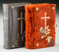Decorative Arts, Continental, Two Small German Prayer Books, 20th century. 4-1/2 inches high(11.4 cm). ... (Total: 2 Items)