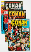 Bronze Age (1970-1979):Adventure, Conan the Barbarian #2-24 Group (Marvel, 1970-73) Condition: Average VF.... (Total: 23 Comic Books)