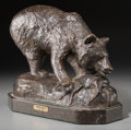 Fine Art - Sculpture, American:Contemporary (1950 to present), After Edward Kemeys (American, 1843-1907). Bear, 1972.Bronze with brown patina. 8-1/2 inches (21.6 cm) high on a 1-1/2...