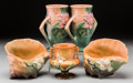 Ceramics & Porcelain, American:Modern  (1900 1949)  , A Group of Five Roseville Pottery Items, Roseville, Ohio, circa1930. Marks: Roseville. U.S.A., 72-6. 6-1/8 inches high ...(Total: 5 Items)