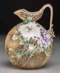 Asian:Japanese, A Nippon Painted Porcelain Jug, 20th century. Marks: Nippon,HAND PAINTED. 6-1/2 inches high (16.5 cm). ...