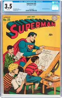 Superman #25 (DC, 1943) CGC VG- 3.5 White pages
