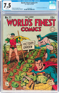 World's Finest Comics #11 (DC, 1943) CGC VF- 7.5 White pages