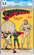 Golden Age (1938-1955):Superhero, Superman #28 (DC, 1944) CGC VG- 3.5 White pages....