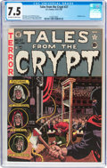 Golden Age (1938-1955):Horror, Tales From the Crypt #27 (EC, 1951) CGC VF- 7.5 Off-white to whitepages....