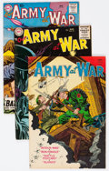Golden Age (1938-1955):War, Our Army at War Group of 4 (DC, 1954-59) Condition: Average VG....(Total: 4 Comic Books)
