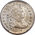 Early Dimes, 1805 10C 4 Berries, JR-2, R.2, AU55 PCGS....