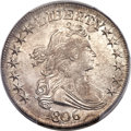 Early Half Dollars, 1806 50C Pointed 6, Stem, O-120a, T-28, R.4, AU58 PCGS Secure....