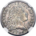 Early Half Dimes, 1794 H10C V-1, LM-1, R.6 -- Improperly Cleaned -- NGC Details.AU....