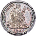 Seated Dimes, 1885 10C MS67 PCGS. Fortin-Unlisted....