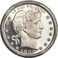 Proof Barber Quarters, 1892 25C PR67 Cameo PCGS....