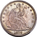 Seated Half Dollars, 1879 50C Closed Bud, WB-102, MS65 PCGS. CAC....