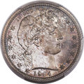 Proof Barber Quarters, 1914 25C PR67 PCGS....