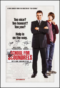 """School for Scoundrels (MGM, R-2006). Autographed One Sheet (27"""" X 40"""") SS Advance. Comedy"""