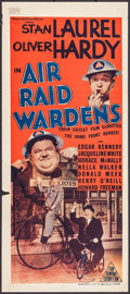 "Movie Posters:Comedy, Air Raid Wardens (MGM, 1943). Australian Daybill (13.5"" X 30"").Comedy.. ..."