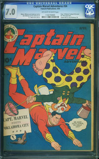 Captain Marvel Adventures #34 (Fawcett Publications, 1944) CGC FN/VF 7.0 Off-white to white pages